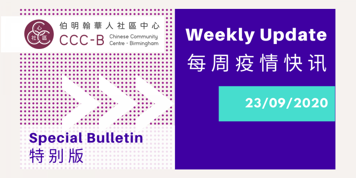 WEEKLY UPDATE Special Bulletin – 每周疫情快讯特別版 23.09.2020