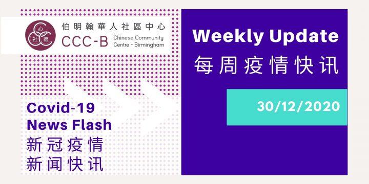 Covid-19 News Flash – 新冠疫情新闻快讯 31/12/2020